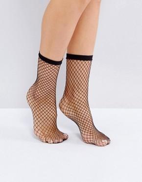 Сетчатые носки Monki - Черный