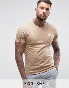Облегающая футболка песочного цвета с принтом на груди Good For Nothing - Stone