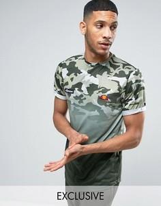 Камуфляжная футболка с эффектом деграде Ellesse - Зеленый