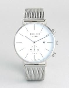 Серебристые часы с сетчатым браслетом Reclaimed Vintage - Серебряный