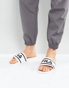 Шлепанцы с логотипом Fila - Белый