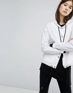 Куртка с капюшоном и шнурками Dr Denim - Белый