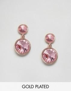 Серьги-подвески с камнями Ted Baker Ronda Rivoli - Розовый