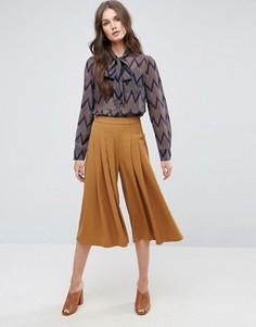 Юбка-брюки с широкими штанинами Y.A.S Cama - Коричневый