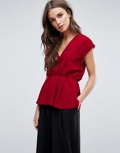 Блузка с запахом Y.A.S Amber - Красный