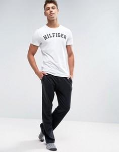 Черный хлопковые брюки классического кроя Tommy Hilfiger - Черный