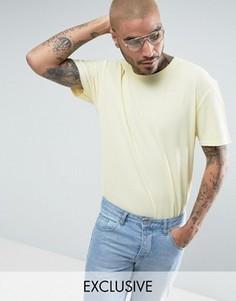 Желтая oversize-футболка из вафельного трикотажа Puma эксклюзивно для ASOS - Желтый