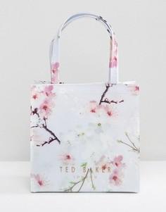 Сумка с восточным цветочным принтом и логотипом Ted Baker - Серый