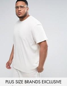 Серая oversize-футболка из вафельного трикотажа Puma PLUS эксклюзивно для ASOS - Серый