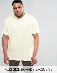 Желтая oversize-футболка с вафельной текстурой Puma PLUS эксклюзивно для ASOS - Желтый