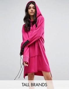 Удлиненное платье с капюшоном Daisy Street Tall - Розовый