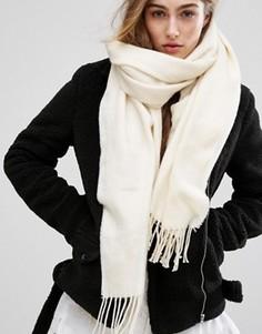 Длинный шарф Pieces - Белый