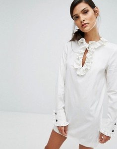 Платье мини с оборками Sonia By Sonia Rykiel - Белый