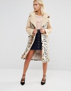 Пальто со звериным принтом Glamorous - Мульти