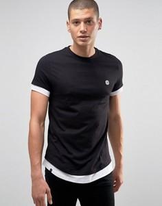 Удлиненная футболка Le Breve - Черный