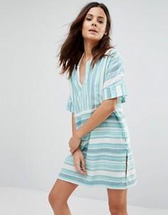 Пляжное платье в полоску Echo - Золотой
