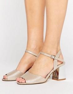 Босоножки на блочном каблуке Miss KG Cara - Бежевый