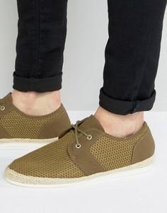Сетчатые туфли цвета хаки KG By Kurt Geiger - Зеленый