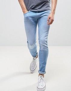 Выбеленные джинсы скинни Wrangler - Синий