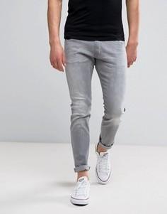 Серые выбеленные джинсы скинни Wrangler Bryson - Серый