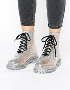 Резиновые ботинки на шнуровке Park Lane - Серебряный