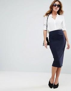 Длинная юбка-карандаш ASOS - Темно-синий