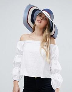 Соломенная шляпа в стиле колор блок ASOS - Мульти