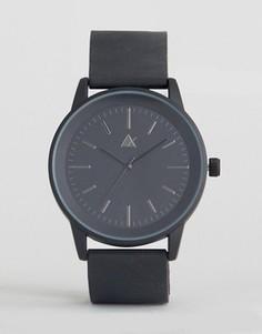 Часы с черным резиновым ремешком ASOS - Черный