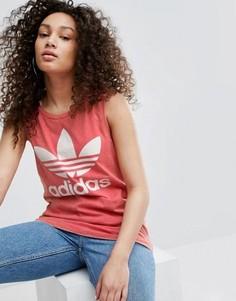 Топ с логотипом-трилистником adidas Originals - Мульти