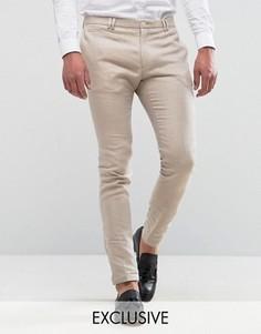Супероблегающие льняные брюки Noak - Бежевый