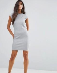 Платье с пуговицами на плечах Supertrash Debra - Серый