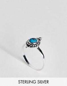 Серебрянное кольцо с камнем цвета бирюзы ASOS - Серебряный