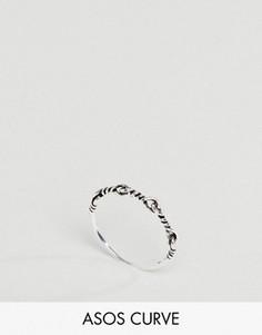 Витое кольцо из серебра ASOS CURVE - Серебряный