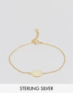 Позолоченный браслет из серебра с дисками ASOS - Золотой