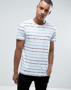 Выбеленная футболка в бретонскую полоску с круглым вырезом Esprit - Белый