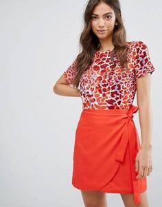 Топ с леопардовым принтом Daisy Street - Красный