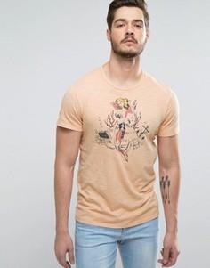 Оранжевая футболка с принтом русалки Abercrombie & Fitch - Красный