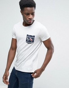 Футболка с круглым вырезом и принтом кармана Esprit - Белый