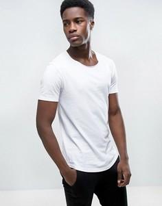 Удлиненная футболка с овальным вырезом Esprit - Белый