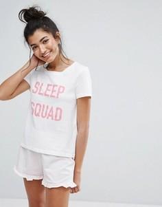 Пижамная футболка Vero Moda - Белый