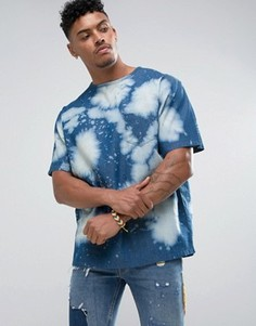 Джинсовая футболка с выбеленным эффектом Jaded London - Синий