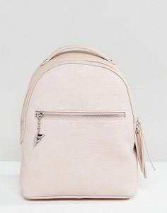 Миниатюрный рюкзак бледно-розового цвета с мятым эффектом Fiorelli Anouk - Розовый