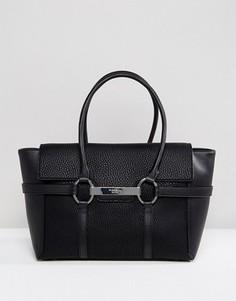 Черная сумка-тоут с металлической планкой Fiorelli Barbican - Черный