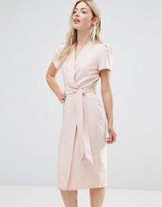 Платье миди с запахом Alter - Розовый