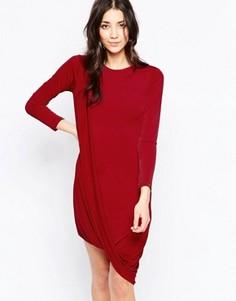 Платье с запахом на подоле Wal G - Красный