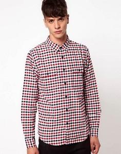 Рубашка в клеточку Izzue - Красный