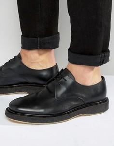 Кожаные туфли Selected Homme Last - Черный