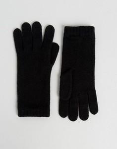 Черные кашемировые перчатки Johnstons of Elgin - Черный