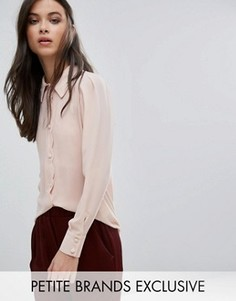 Блузка с фигурными краями на пуговицах Alter Petite - Розовый
