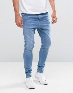 Синие джинсы скинни Illusive London Hareem - Синий